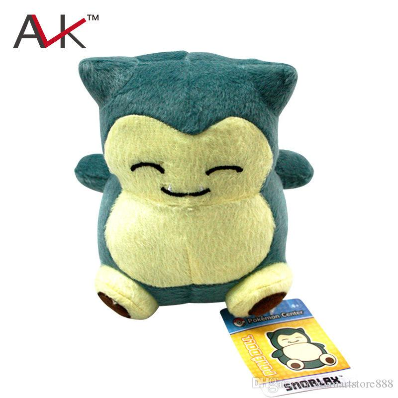New Cute Pocket Monster Poke Snorlax Stuffed Plush Doll Cartoon Animal Figure Toys Gifts