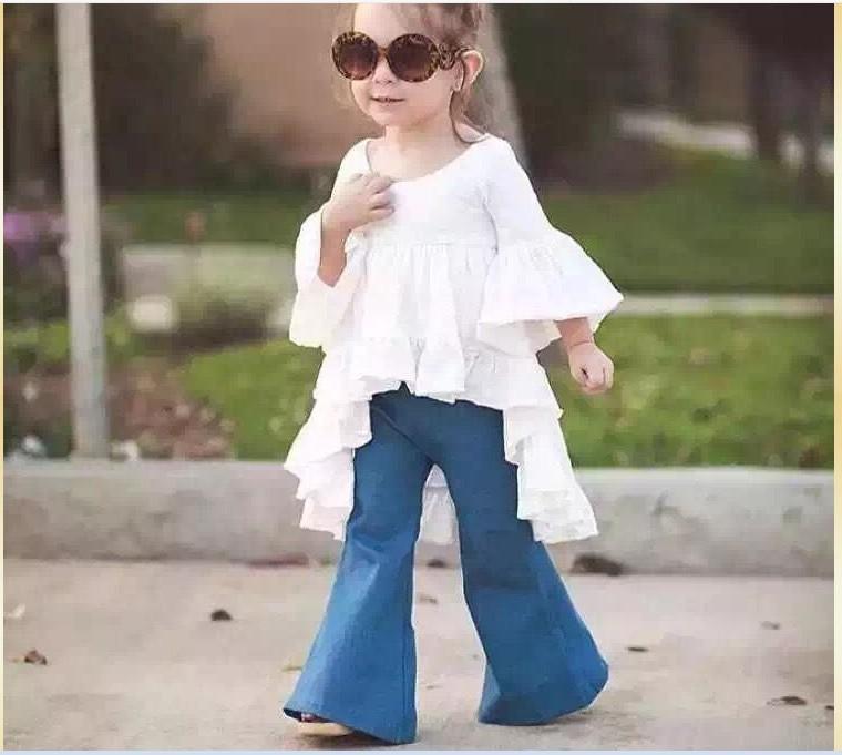 2016 Nouvelle Arrivée Fille Princesse Robe Blanc Couleur Belle Mignon Filles Robes De Haute Qualité 100% Coton Enfants Vêtements Enfants Hauts 80-130 cm