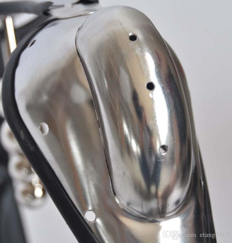 Più nuovo maschio modello-T Curva vita completamente regolabile in acciaio inox castità cintura dispositivo di castità con gabbia del pene spina anale bdsm giocattolo del sesso