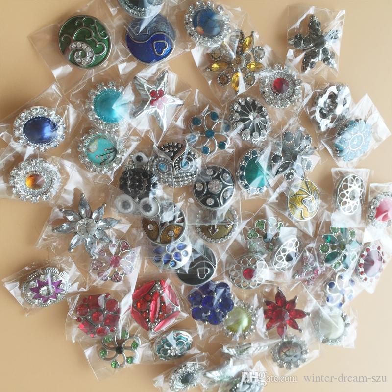 Venta al por mayor Snaps joyería 10 unids flor Cameo multicolor mezclado jengibre botones a presión para el botón a presión de joyería 18 mm imágenes reales E690L