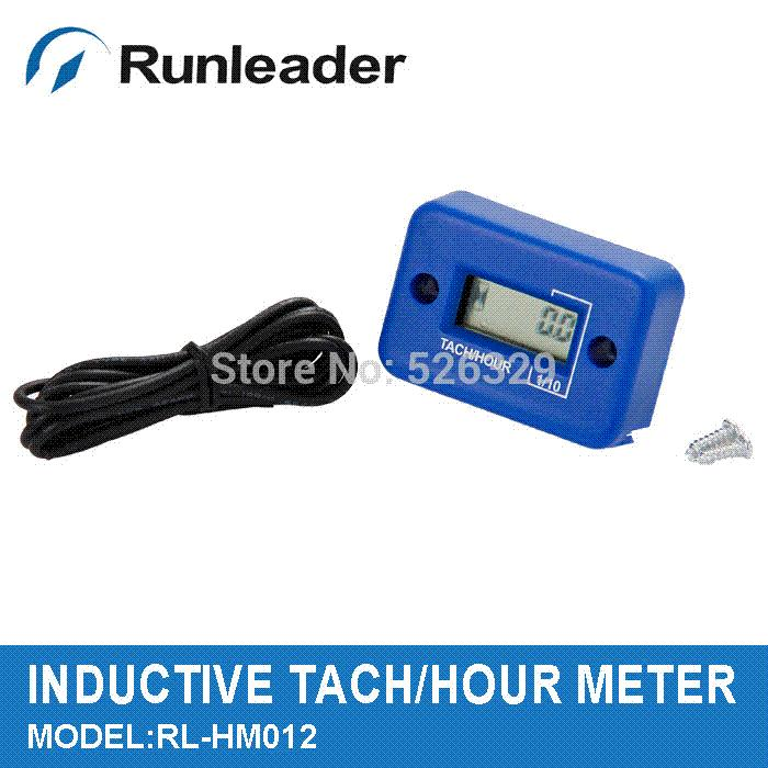 LCD Inductive Engine Hour Meter Tachometer for Tractor Outboard Motor Crane  Gasoline Engine M54354 tachometer motorcycle
