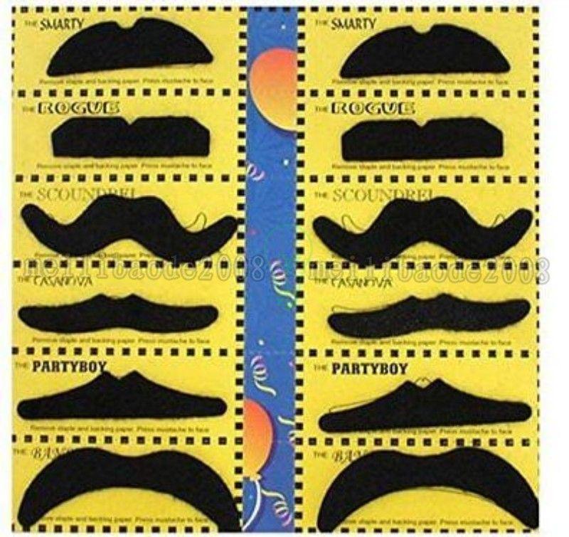 NEUES freies Shiping 12 in 1 falschem Bart-Halloween-Party-Kostüm-Schnurrbart-Weihnachtsmann-Bart-Spaß-Weihnachtsweihnachtsspielzeug-Geschenk MYY