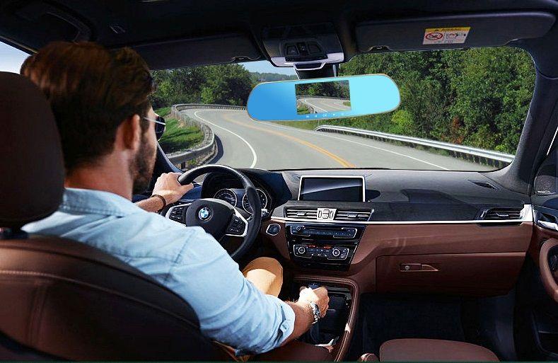 Car DVR Dash Cam All Winner Solution 5 Inch PZ918 HD Touch Screen Intelligent Dual Lens GPS Tracker Radar Detector Rearview Mirror DHL