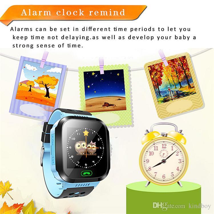 Pantalla táctil Q528 LBS Tracker Watch Relojes anti-perdidos para niños Reloj inteligente LBS Tracker Relojes SOS Llame para Android IOS con cámara remota