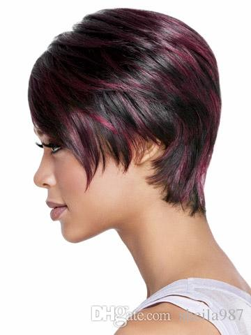 2018 Bob Short Hair Women's Wigs Short Bob Wig Fake Hair Straight Short Wigs for Black Women Color Pixie Cut Female African American