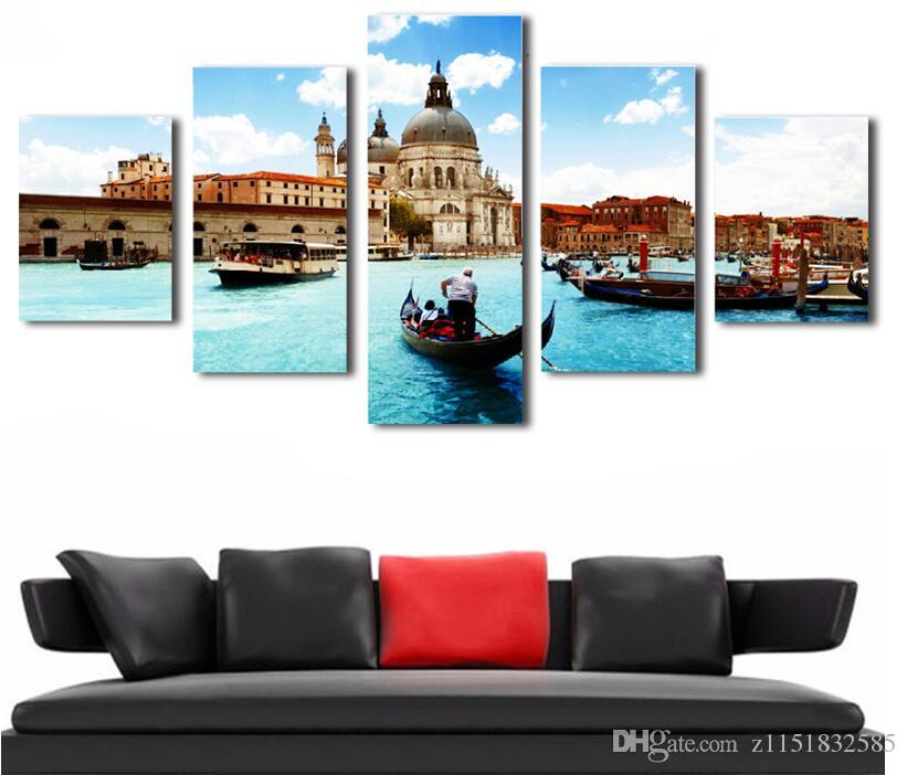 HD Printed Wall Modular Pictures For Living Room New York City Modern Painting On The Wall 5 P Canvas Art Painting