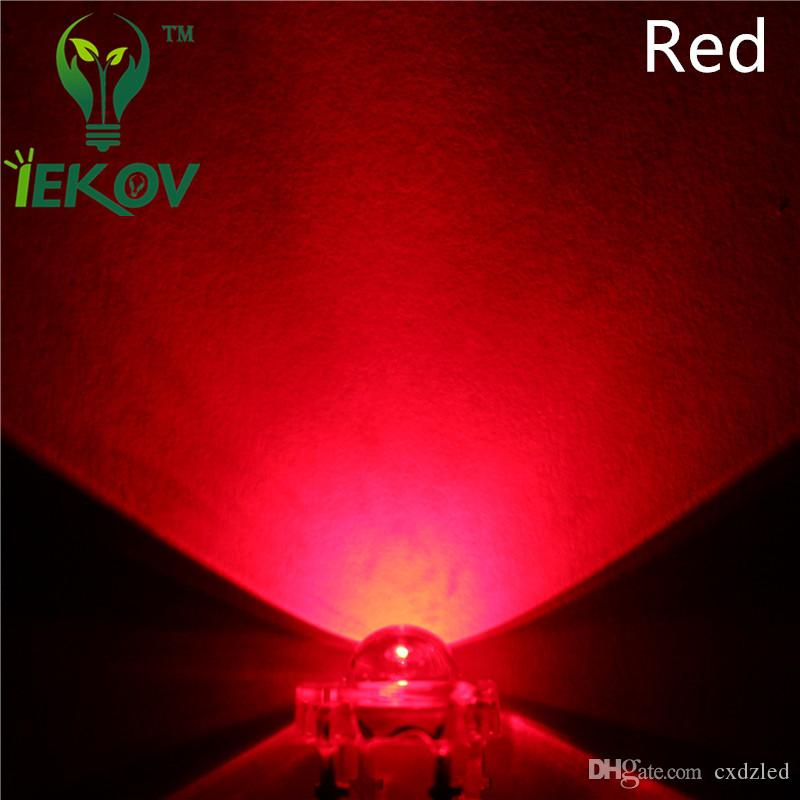 LED 5MM Piranha Red Super Flux Leds 4pin Dome Wide Angle Super Bright Light Lamp For Car Light High Quality Hot Sale