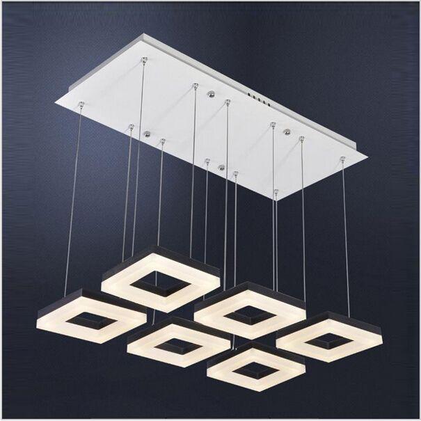 Creative Design Dining Room 4 6 Sqares Modern Led Pendant Lights ...