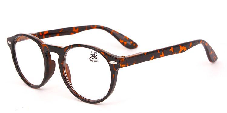 Großhandelsrunde Plastiklesegläser für Frauen und Mann preiswerte Art und Weise, die Entwerfer eyewear Glasvergrößerungsstärke 1.00 liest 2.00 3.50