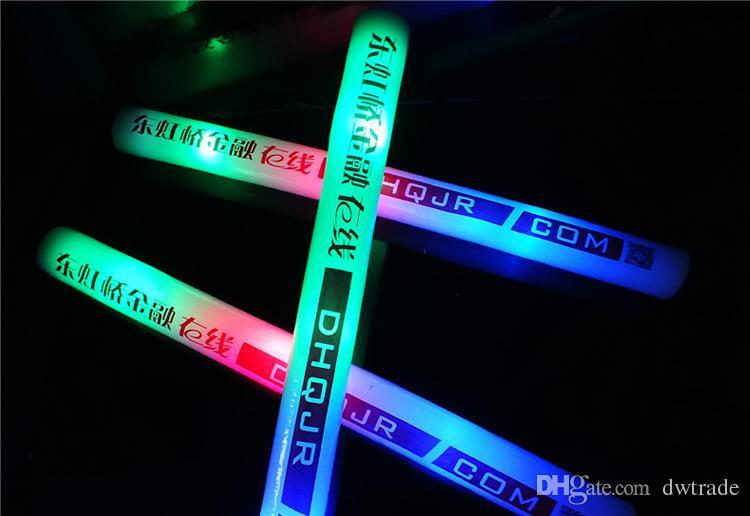 Светодиодная пена палочки мигающие палочки партии инструменты света аплодисменты светящиеся светящиеся фестивали рождественские карнавальные концерты