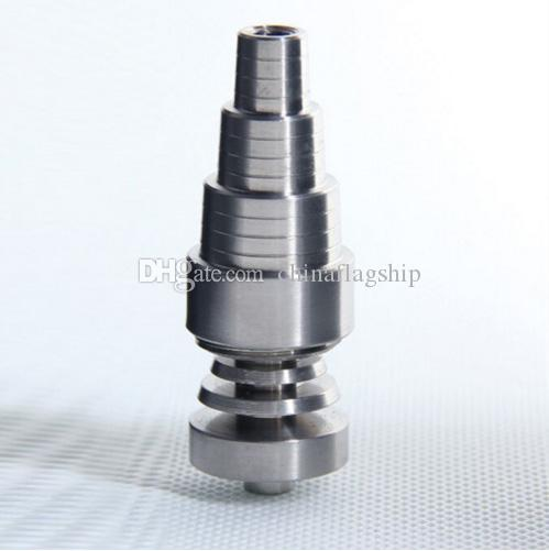 Top quality Universal domeless 10MM 14MM 18MM Male Female dab nail Ti Nails titanium carb cap For all oil rigs glass water bongs