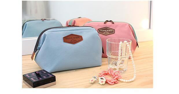 Fashion Designer Double Zipper Cosmetic Bag For Women Makeup Organizer Ladies Travel Cosmetic Bags Cases Blue Pink Navy Orange Colors Sale