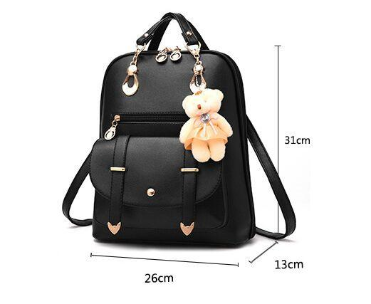summer fashion little backpack for woman students women backpack korean style Little bear backpack high quality