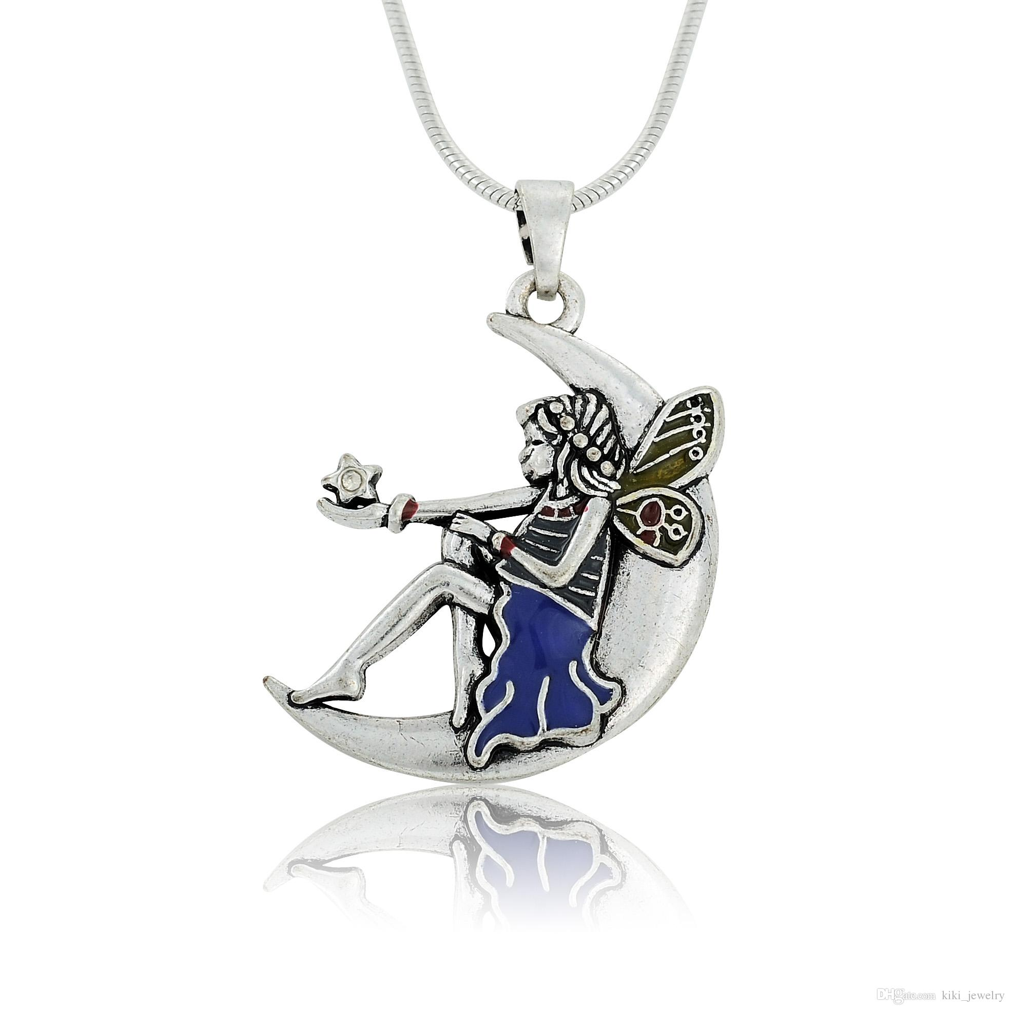 necklace today sterling watches silver shipping product jewelry dream fairy pendant moon free cgc overstock