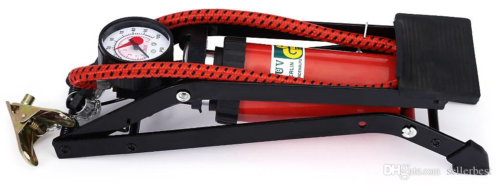 Pompa a pedale ad alta pressione pompa di gonfiaggio pneumatici auto Piede pieghevole motocicli
