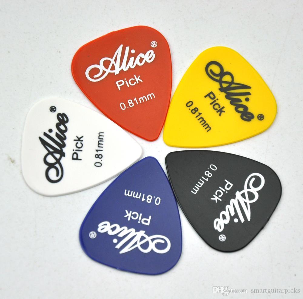 100шт средний Алиса 0.81 мм гладкий ABS гитара выборка plectrums бас Джаз