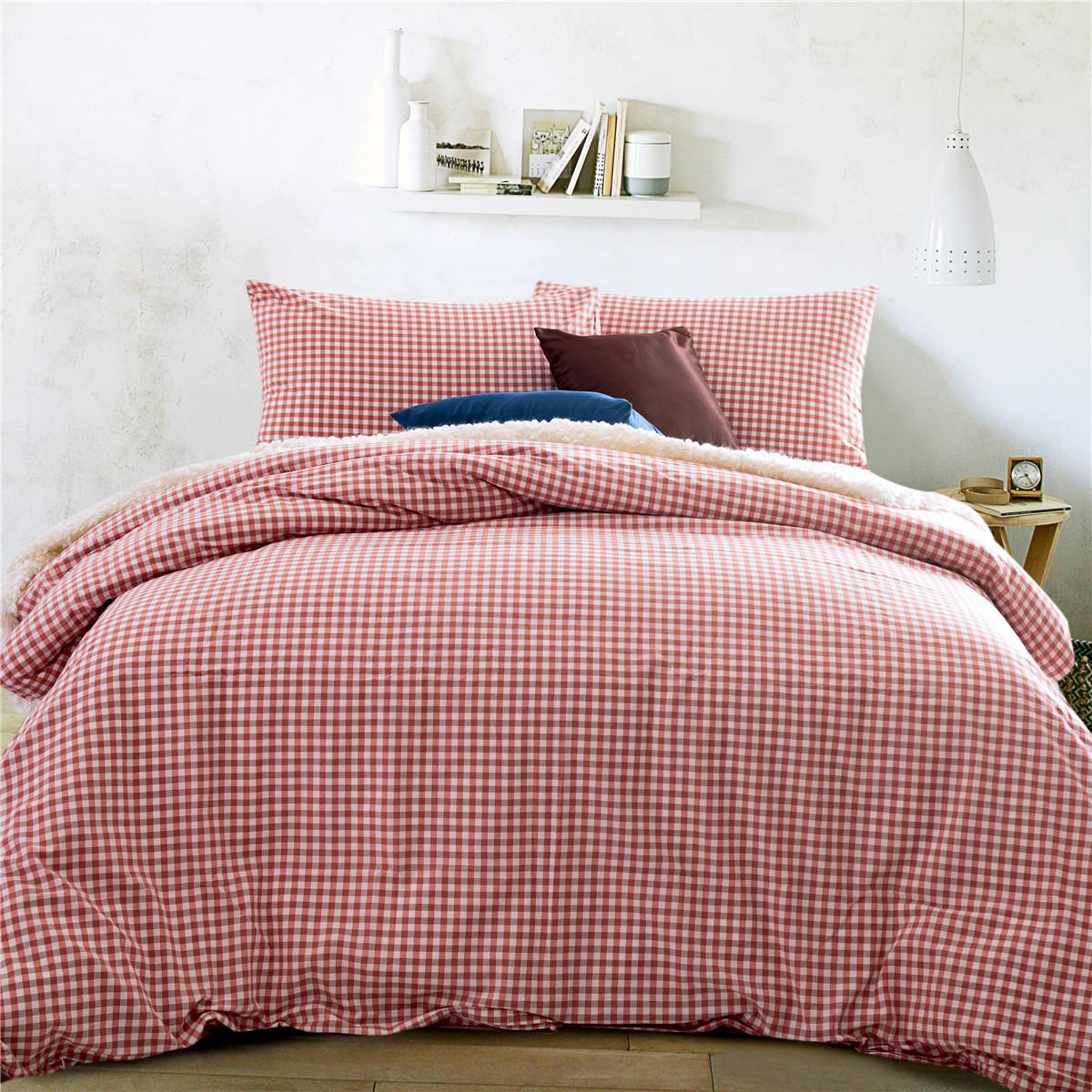 red duvet brushed product and main cover cotton reversible pillowcase hartford set