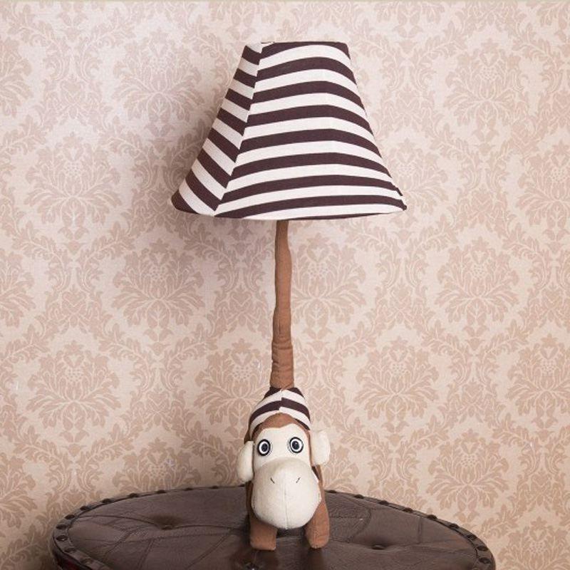 Niedliche Cartoon-Tier Kinder Schlafzimmer Tischlampe Kinderbettseiten Stoff Schreibtisch-Licht-Baby-Raum-Schreibtisch-Lampen