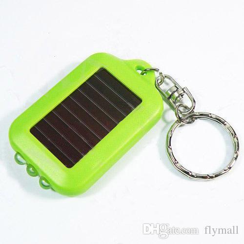 Güneş Enerjisi Anahtarlık LED el feneri Işık Lamba Mini Anahtarlık 3 LED Multi-color Şarj edilebilir Anahtarlık Fener Solar Lamba Anahtarlık