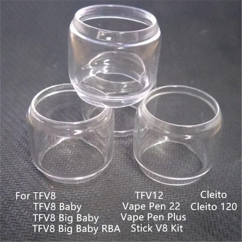 Extend Replacement Fat Glass Tube Expansion Tank For SMOK TFV8 Big Baby RBA  TFV12 Vape Pen 22 Plus Stick V8 Kit Cleito 120
