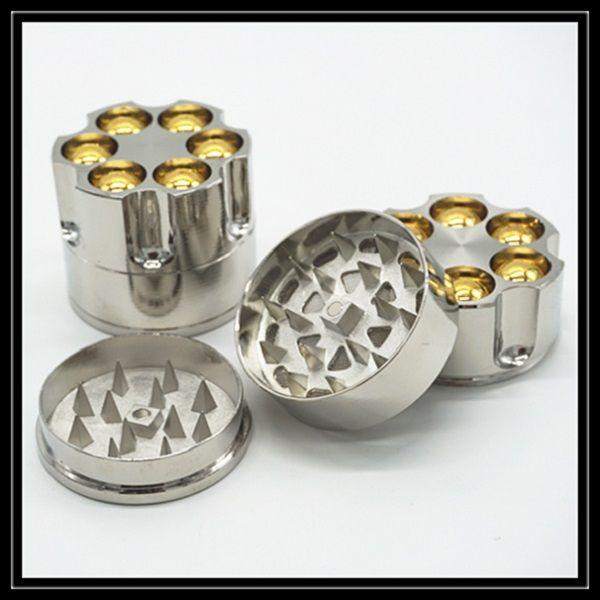NEW BULLET SHAPE METAL GRINDER MAGNETIC HERB POCKET 50MM NOT 40MM