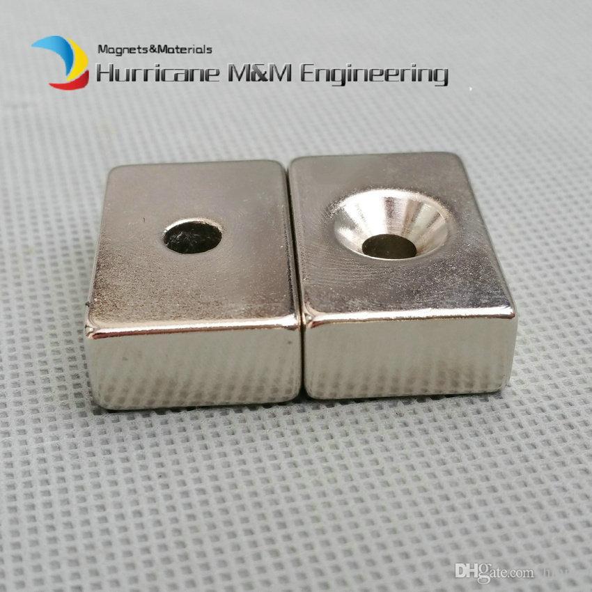 NdFeB Fix Magnet 30x20x10mm with M5 Screw Countersunk Hole Block N42 Neodymium Rare Earth Permanent Magnet