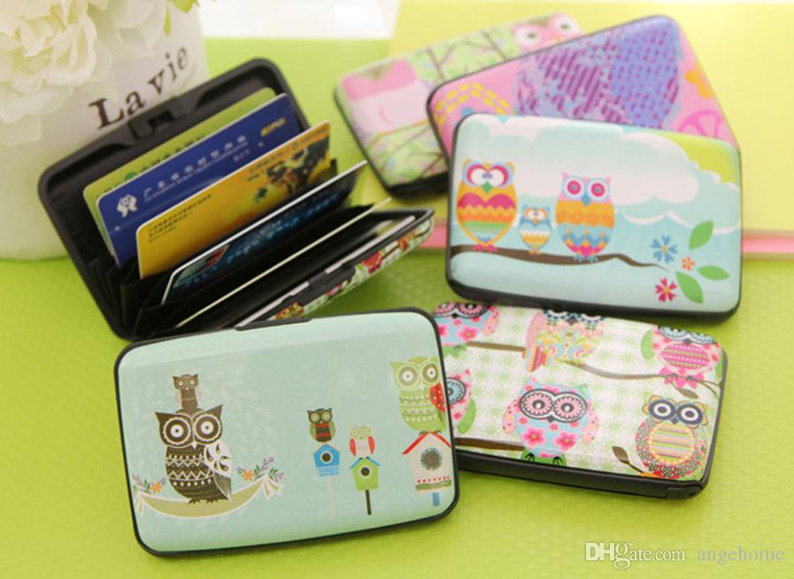 Cartoon Women Card Pouch, ID Credit Card Box Holder Organizer Case ...