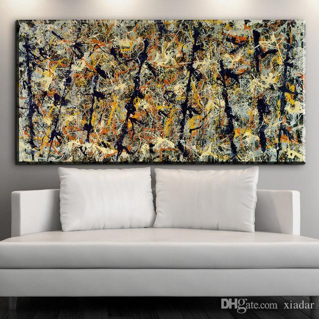2016 номер 5 1948 Джексон Поллок настенное изображение лист 70x90 см Главная декоративно-прикладного искусства Краски на холсте