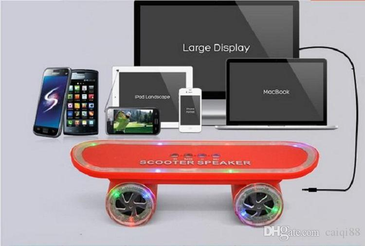 scooter led flash light speaker mini bluetooth speakers. Black Bedroom Furniture Sets. Home Design Ideas