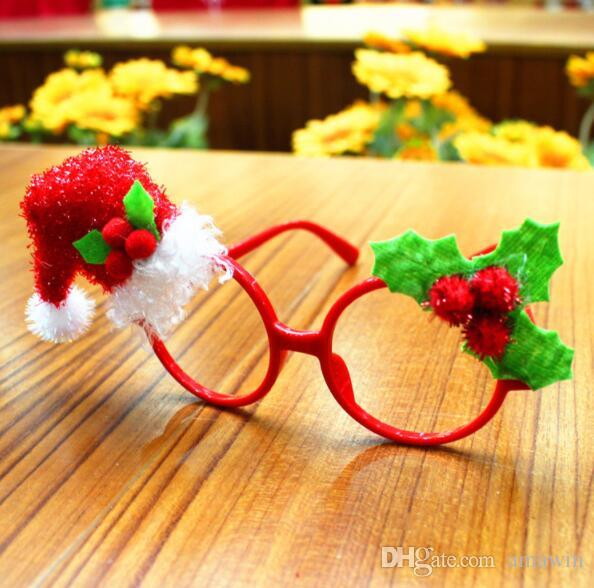 2017 christmas party glasses mask christmas decoration for children and adult christmas party decor children christmas christmas mask online with