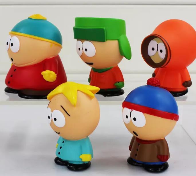 figura de acción marvel outh Park Stan Kyle Eric Kenny Leopard PVC figura de acción juguetes para niños regalo 5.5cm / set