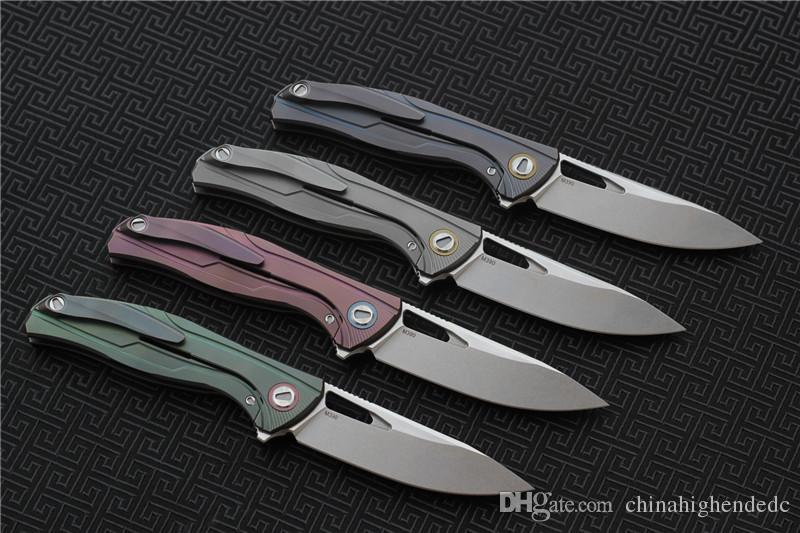 Freies Verschiffen, VESPA F7 faltendes Messerlager Blatt: M390 Satin / StoneWash Griff: TC4 kampierende Jagdtaschen-Fruchtmesser EDC-Werkzeuge im Freien