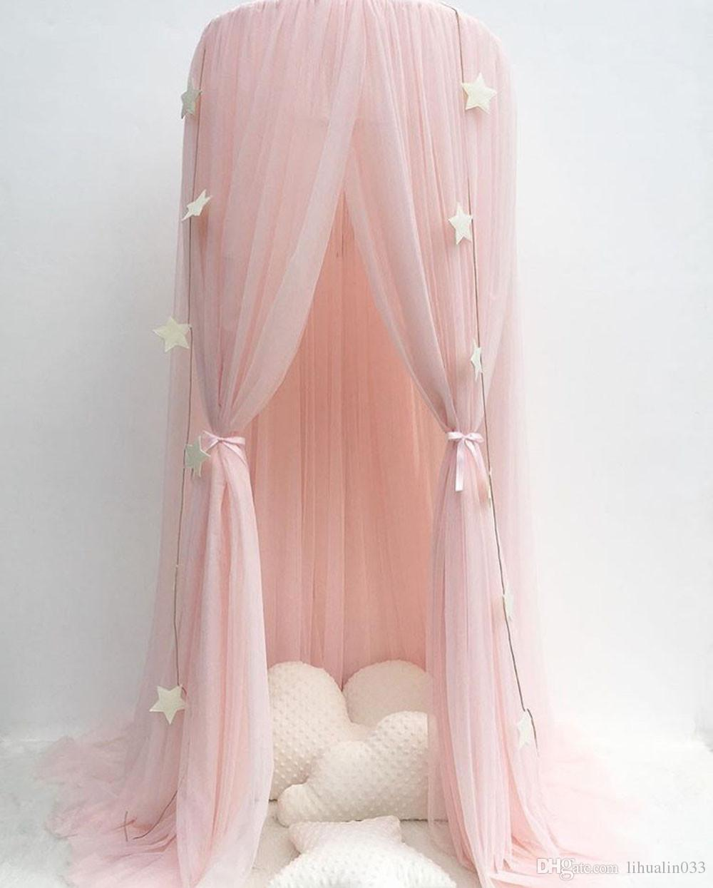 Baby Bed Curtain Round Moustiquaire Crib Tent Hung Dome Mosquito Net Photography Props Curtain for Bedding Klamboe