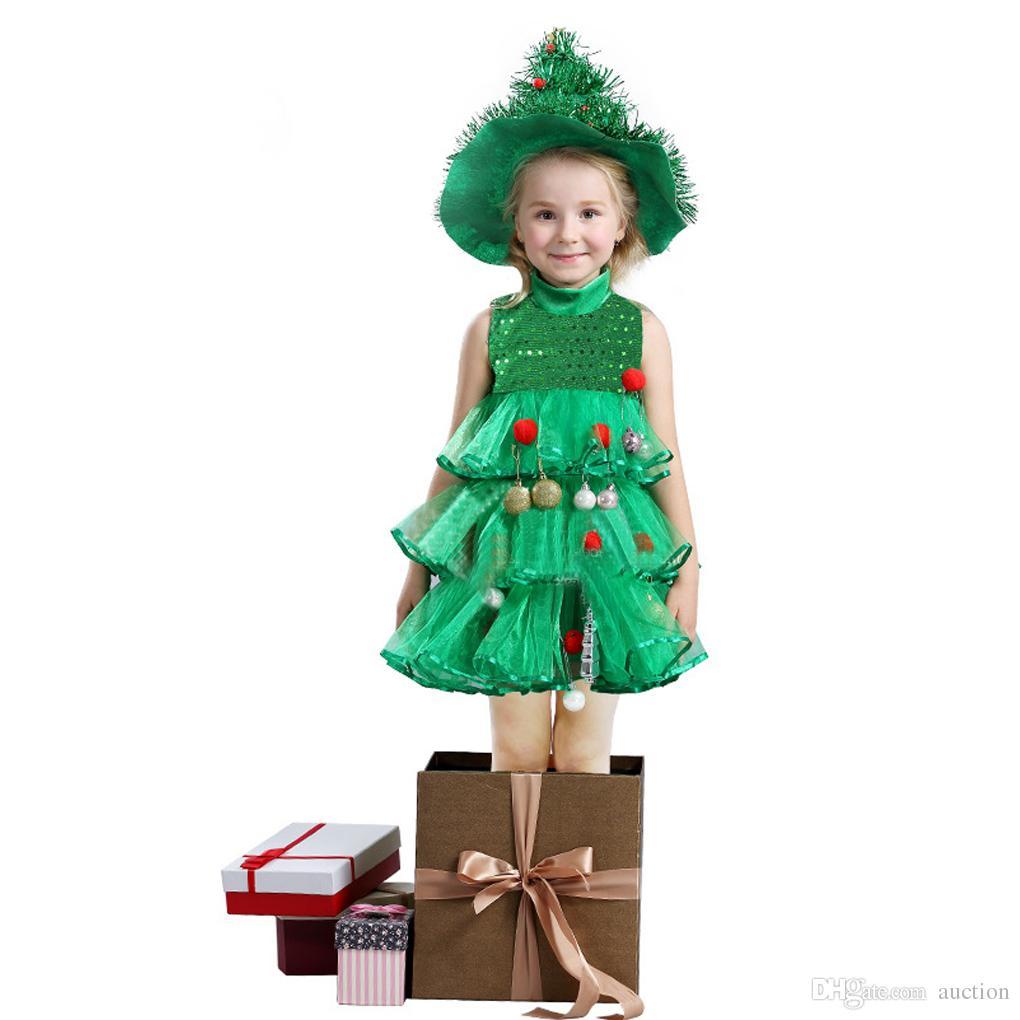 Acquista Vestiti Natalizi Le Bambine Abiti Da Festa Bambini Bambini Alberi  Di Natale Cosplay Vestito Estivo Con Balze Abito Senza Maniche A Strati 4 9  T A ... 36d12746442