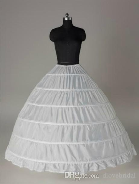Super Cheap Ball Gown 6 Hoops Sottoveste da sposa sottoveste Crinolina da sposa Sottogonna Layes Slip 6 Gonna a cerchio Crinoline Quinceanera Dress