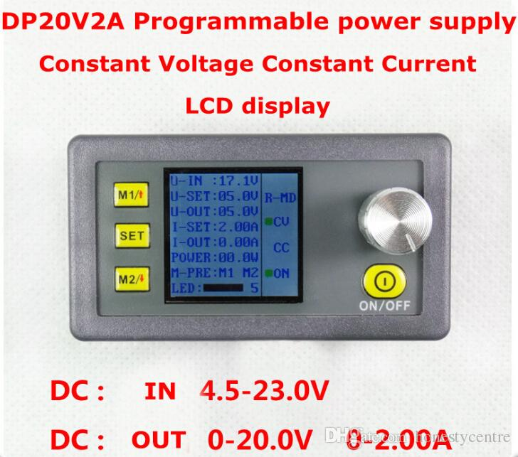 venta caliente DP20V2A multifunción Digital Power DC módulo de fuente de alimentación medidor de voltaje integrado Step-down actual tester Voltímetro