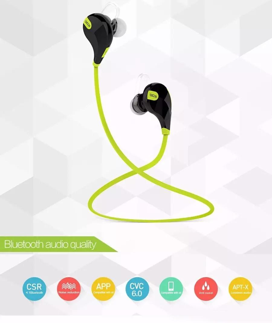 QY7 무선 블루투스 이어폰 헤드셋 스포츠 Heandphone 실행 이어폰 아이폰 5s 6 플러스 삼성 갤럭시 S4 S5 S6 Note5 OM-CA6