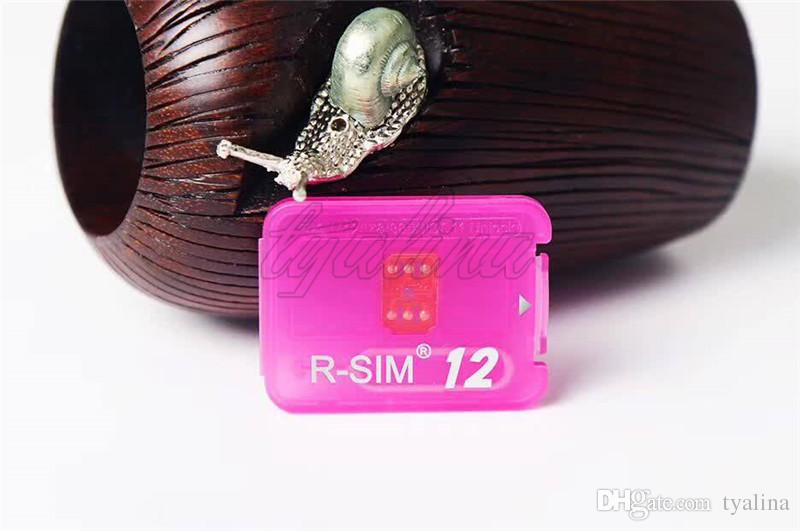 Newest RSIM12 unlock card for iPhone X ios11 rsim 12 rsim12 R-SIM12 unlocking iphone 8 8p 7 7P 6 6S IOS 11 10 9 8 7 4G CDMA SB AU SPRINT
