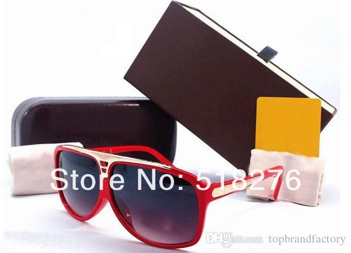 Vente en gros Nouvelles lunettes de soleil EVIDENCE Millionaire Sun Glasses hommes femmes lunettes de soleil lunettes de soleil noir blanc rouge