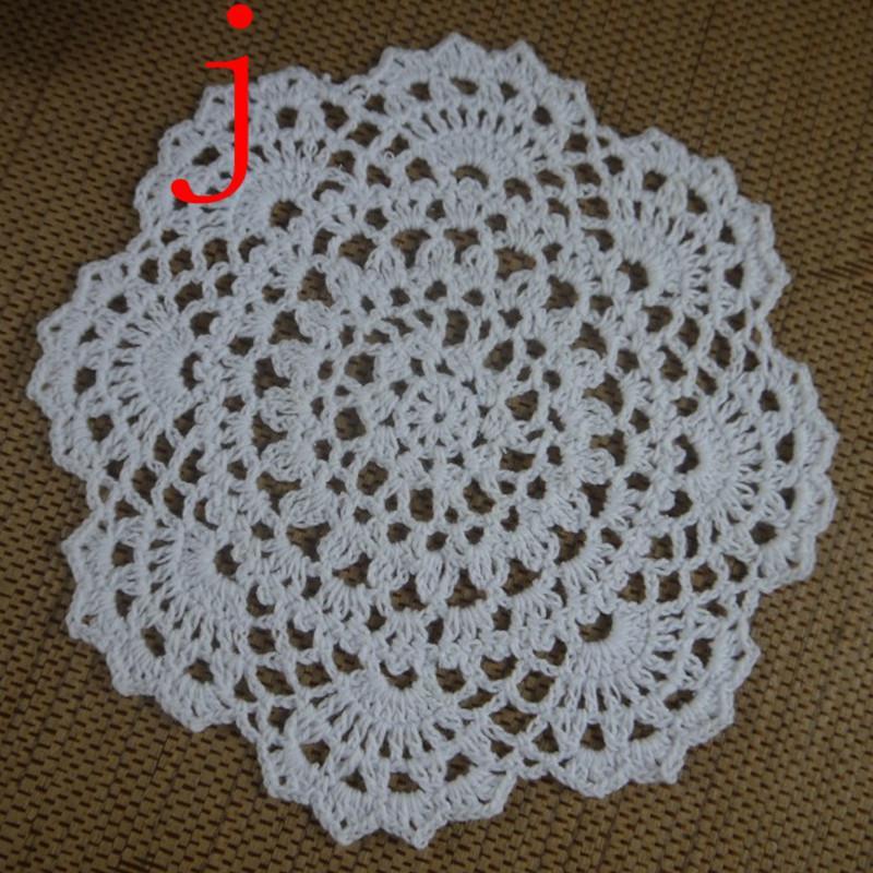 Frete grátis 30 PÇS / LOTE atacado 100% algodão feitas à mão Crochet Doilies copo mat 13 cores, Doily Rodada 18-20 cm ab3h57