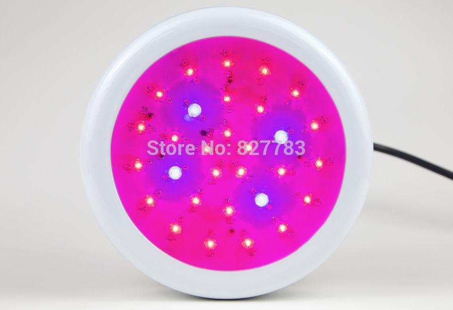 Espectro completo Crecimiento de luz LED UFO de 150 vatios para planta de flor Sistema de cultivo hidropónico 30x5W CA 85V 110V 265V
