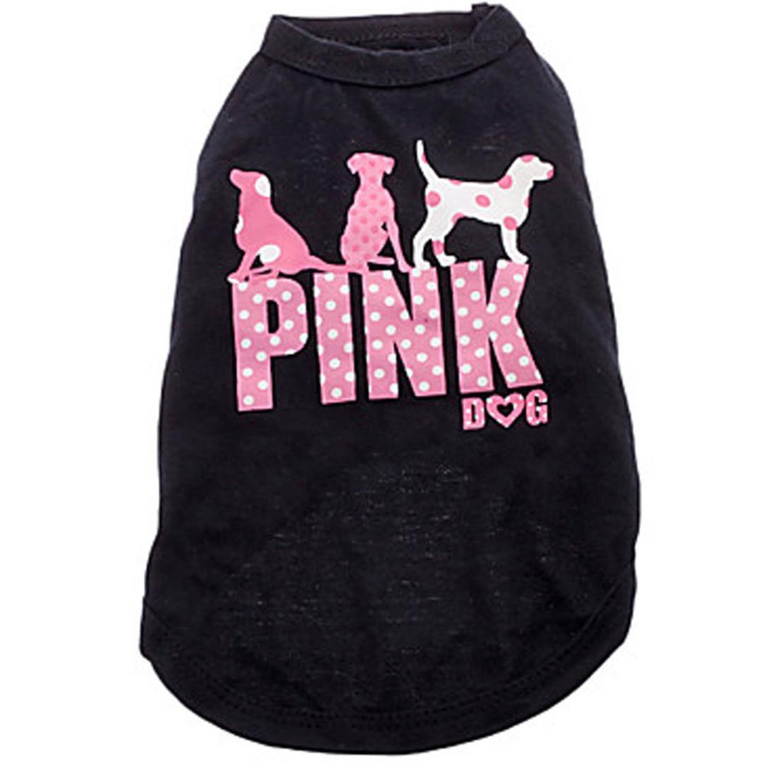 Nouveau chien rose chien vêtements mode chien mignon gilet Pet chandail chiot chemise doux manteau veste été chien chat vêtements