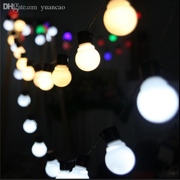 Ordinary Novelty Outdoor Lights Part - 14: Cheap Wholesale New Novelty Outdoor Lighting 5cm Big Size Led Ball String  Lamps Black Wire Christmas Lights Fairy Wedding Garden Pendant Garland Led  String ...