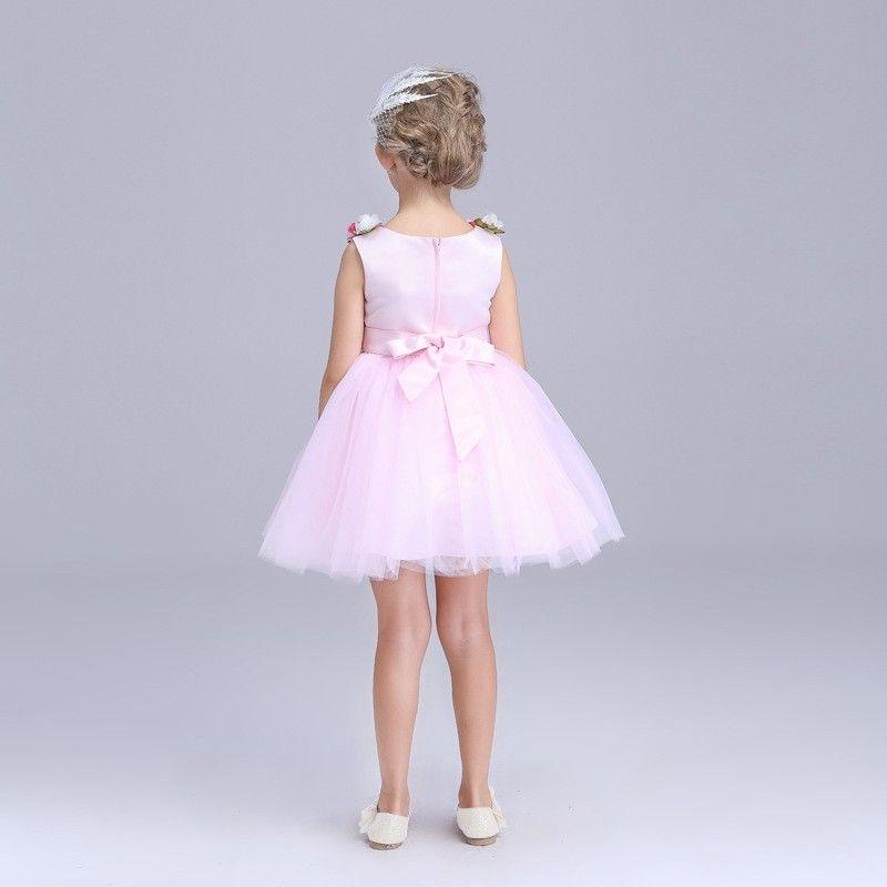 Dress for girls clothes high quality summer kids girl cute flower party school performance wedding dress princess one-piece