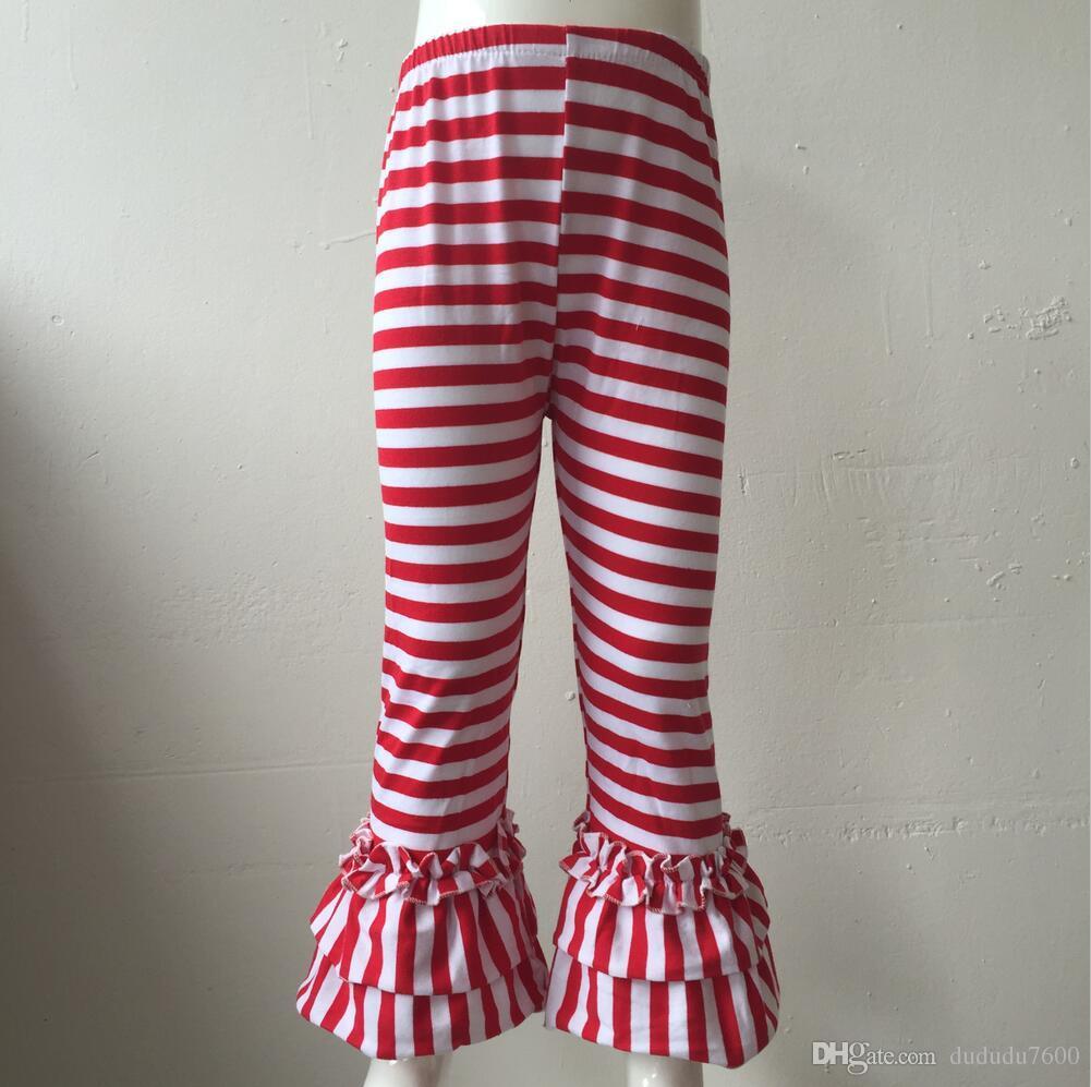 Halloween Baby Girls Black And Orange Stripe Pants Children Fall Winter Full Length Leggings High Quality Pant