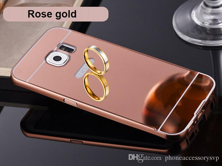 Aluminum Metal Frame Gold Plating Mirror Back Cover Case For Samsung Galaxy  S7 Iphone 7 7plus 6 6s 6plus Rhinestone Cell Phone Cases Silicone Cell  Phone ... e7371968fb