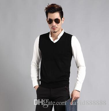 2018 2017 Autumn Winter New Style Men Sleeveless Sweater Wool Vest ...