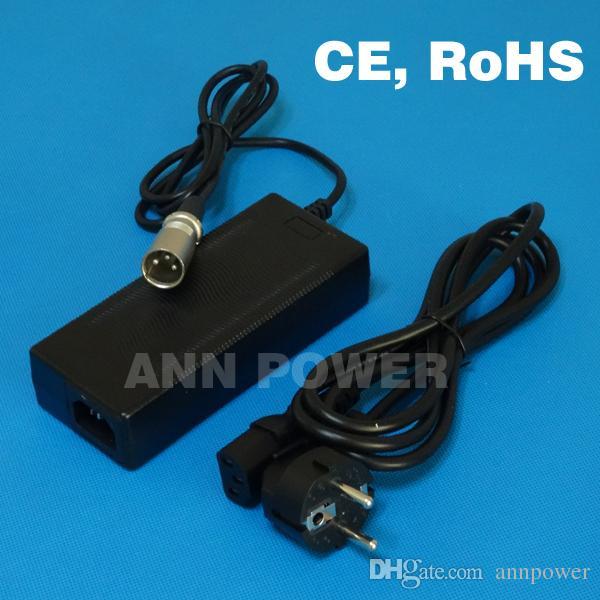 Pode escolher vários plug de saída 48V 2A E-Bike carregador de bateria de lítio-54.6V 2Amp 13S carregador de bateria Lipo / LiMnO4 Entrada 100-240VAC CERohS