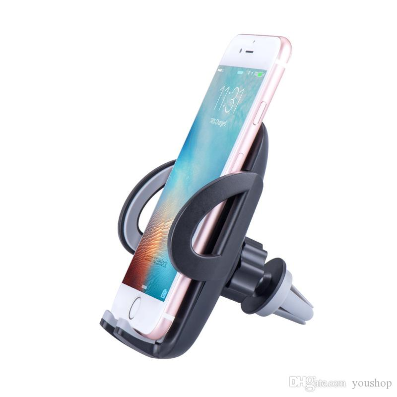 Universal Air Vent Phone Holder Cell Phone Car Mount Holder Stand Cradle for iPhone 7 Plus 7 6 Plus 6S 6S Plus 5S