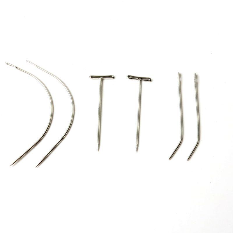 / sac aiguilles de couture de fil de tissage de cheveux aiguilles de couture d'acier inoxydable pour le style différent d'extensions de cheveux de tissage